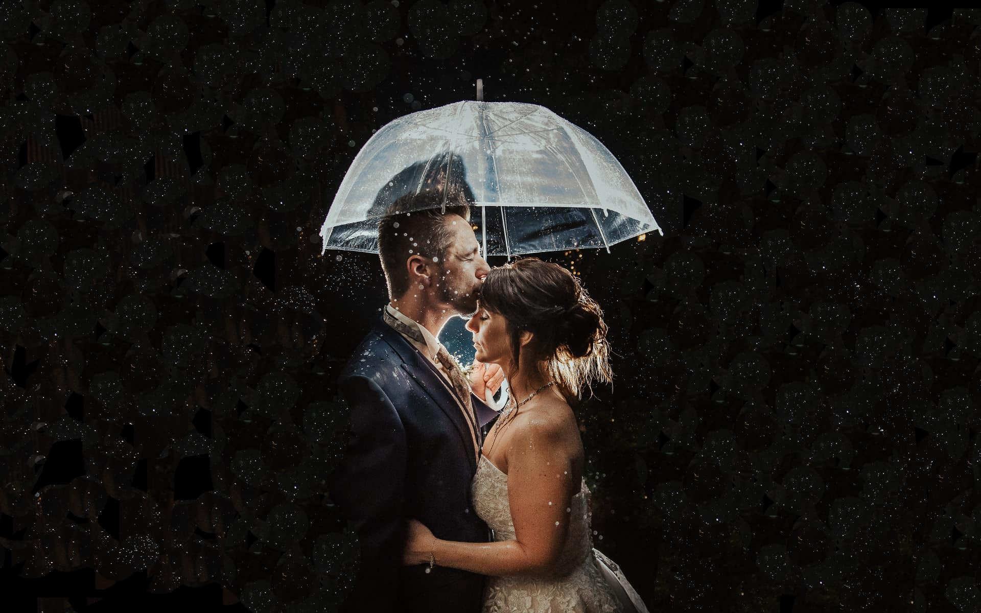 Hochzeit im Sommer mit Regen in Baiersbronn im Schwarzwald
